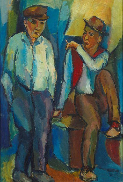 Kenneth Baker; Two Men Smoking
