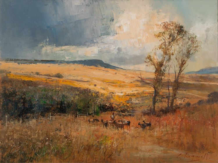 Christopher Tugwell; Landscape with Goats