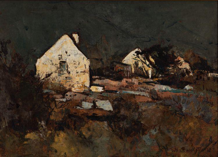 Titta Fasciotti; Landscape with White Cottages