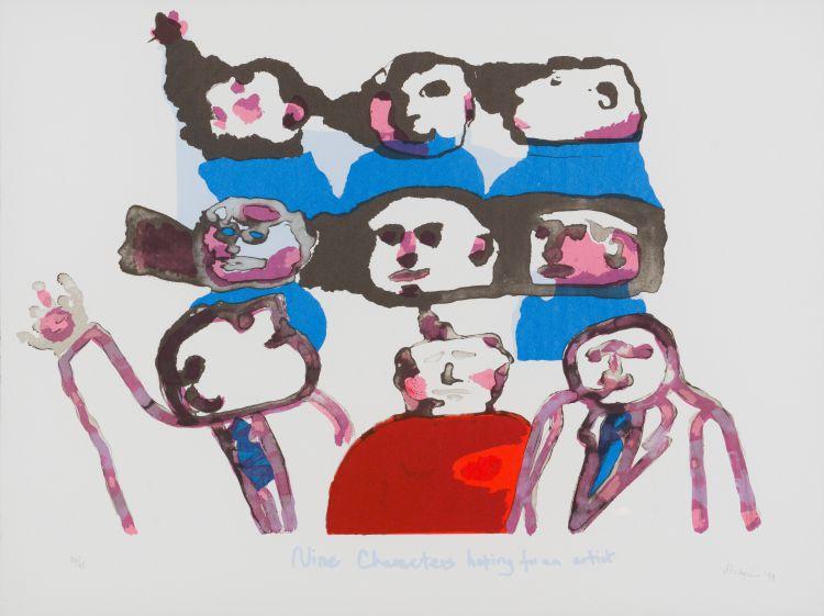 Robert Hodgins; Nine Characters Hoping for an Artist