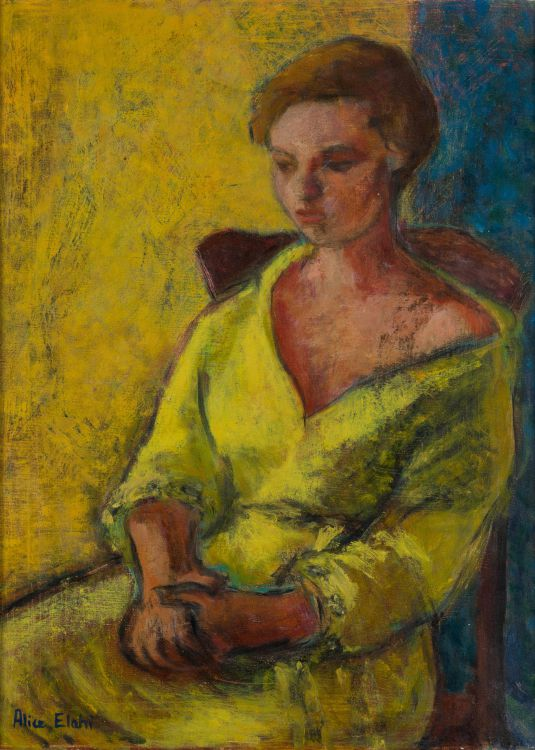 Alice Elahi; Seated Woman