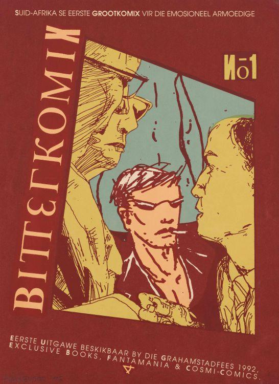 Anton Kannemeyer; Bitterkomix 1, poster of cover design