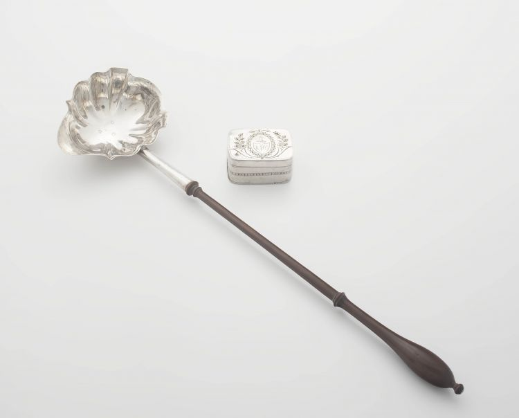 A George III silver punch ladle, maker's mark rubbed, London, 1773