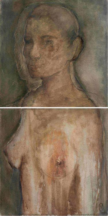 Shany van den Berg; Androgene (Nude), diptych