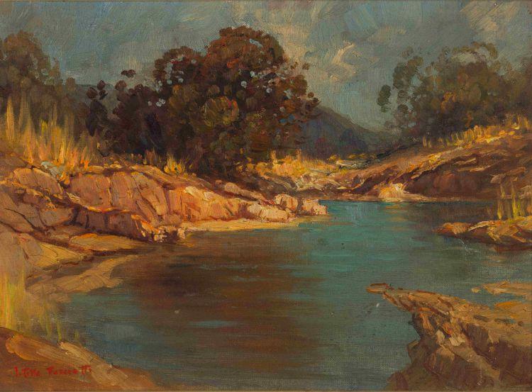 Titta Fasciotti; Landscape with Rock Pool