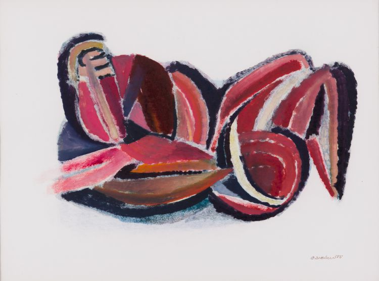 Cecil Skotnes; Abstract in Red
