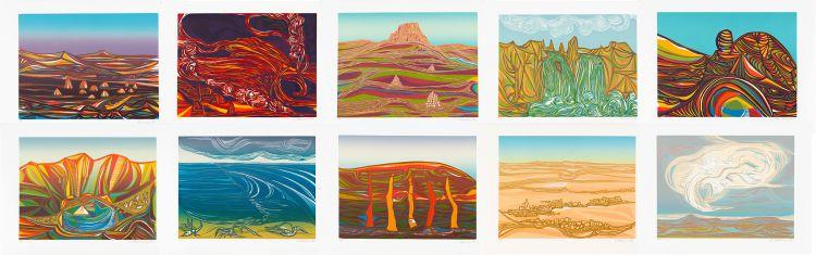 Cecil Skotnes; Ten Landscapes, portfolio