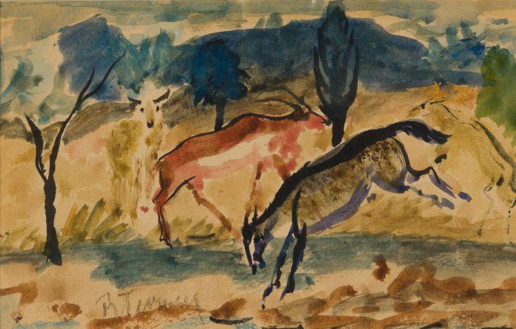 Reginald Turvey; Three Antelope
