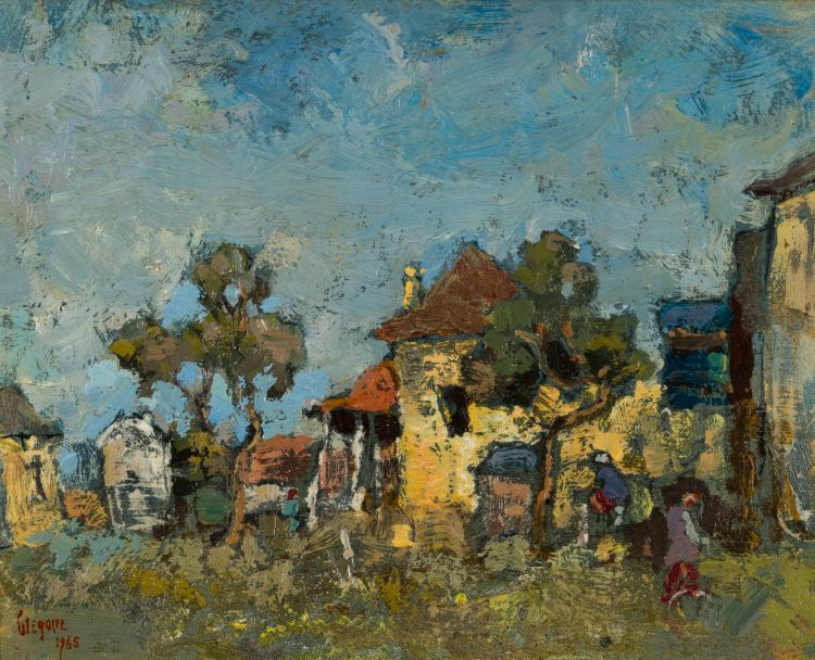 Gregoire Boonzaier; Landscape with Houses and Trees