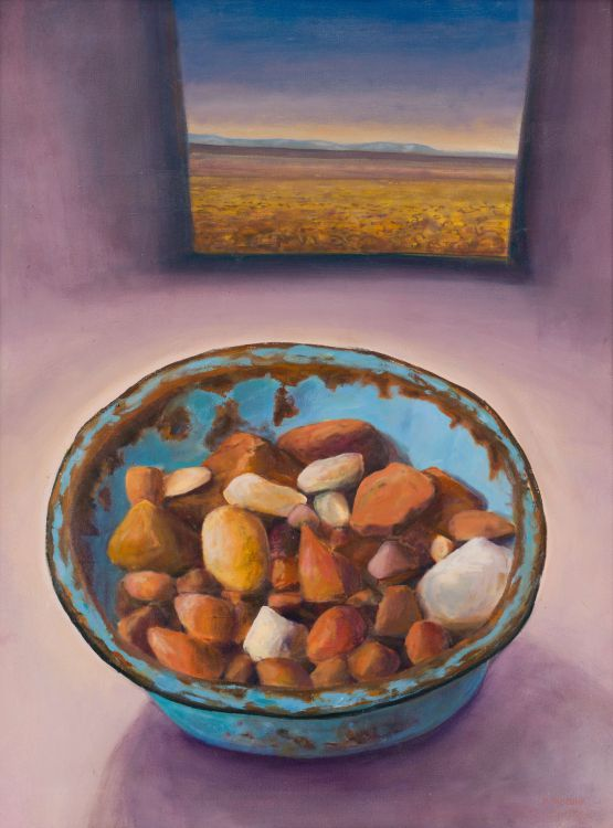 Hermann Niebuhr; Composition with Bowl of Stones