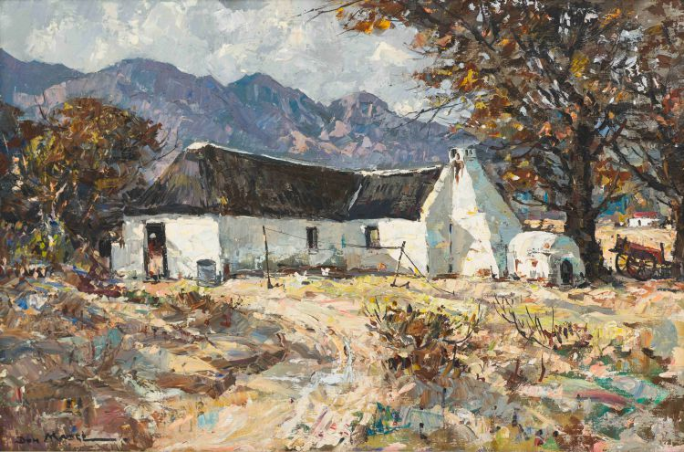 Don (Donald James) Madge; Farm House at the Foot of a Mountain