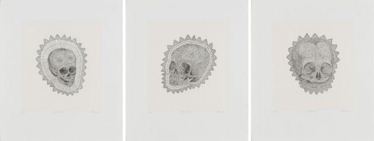 Walter Oltmann; Child Skull I, II & III, three