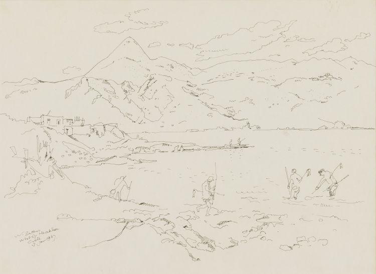 Walter Battiss; West of Heraklion, Crete