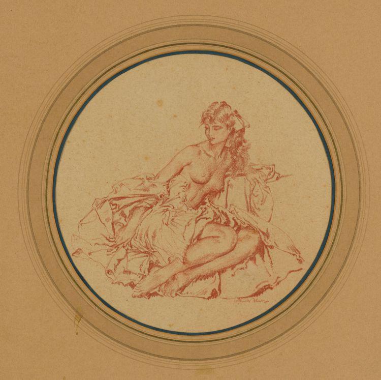 Sir William Russell Flint; Seated Nude