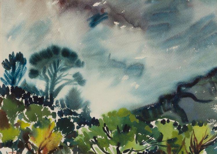 Richard Cheales; Misty Mountain Landscape
