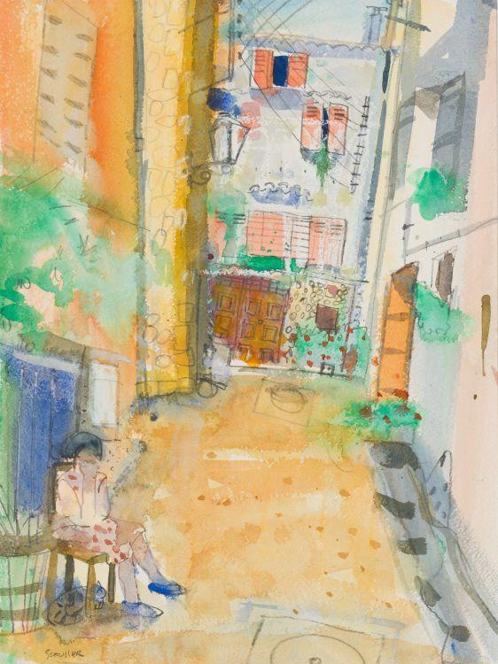 Glen Scouller; Tuscan Courtyard