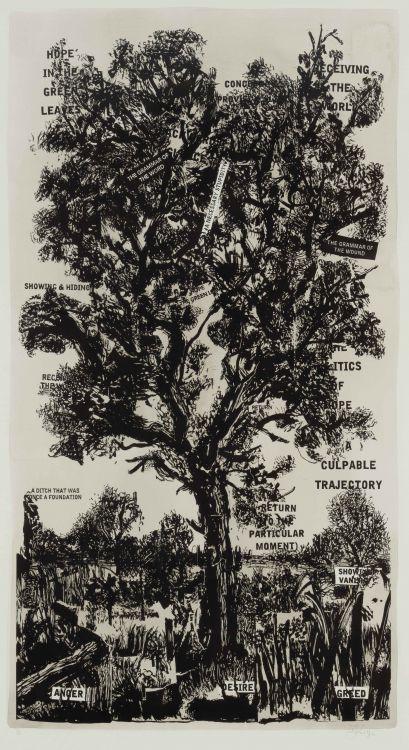 William Kentridge; Hope in the Green Leaves
