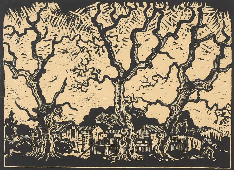 Gregoire Boonzaier; Town and Trees