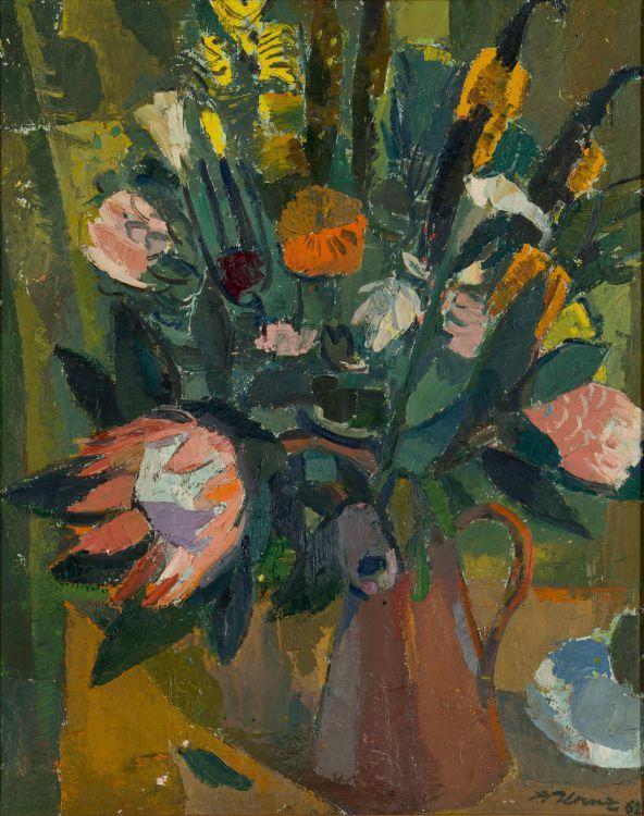 Alfred Krenz; Vase of Flowers