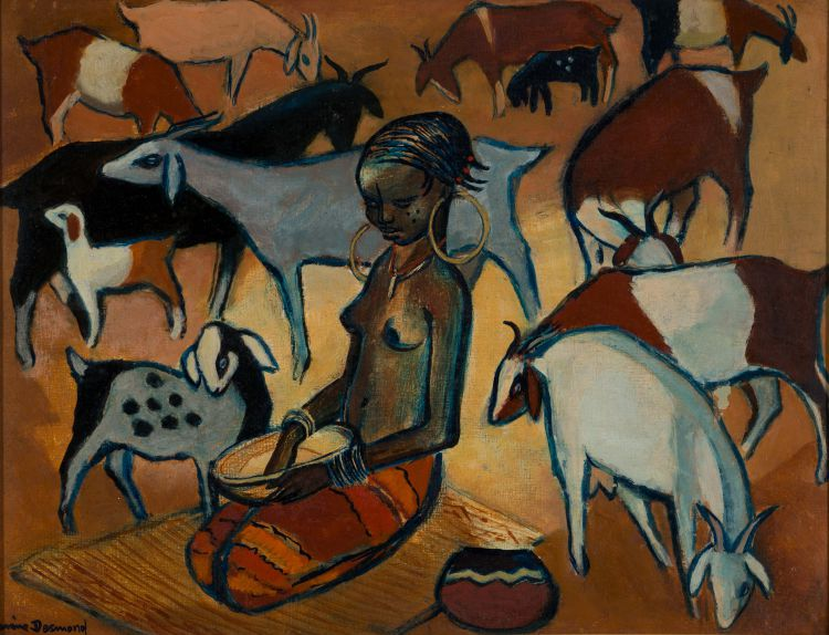 Nerine Desmond; Woman with Goats