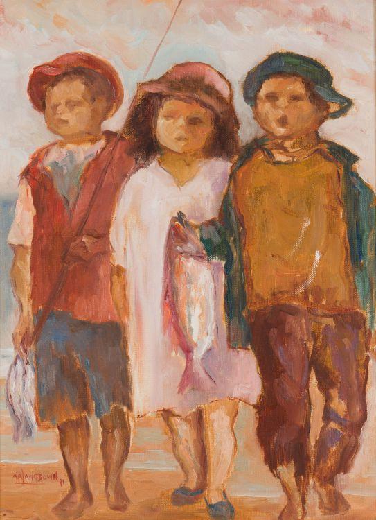 Amos Langdown; Children with Fish