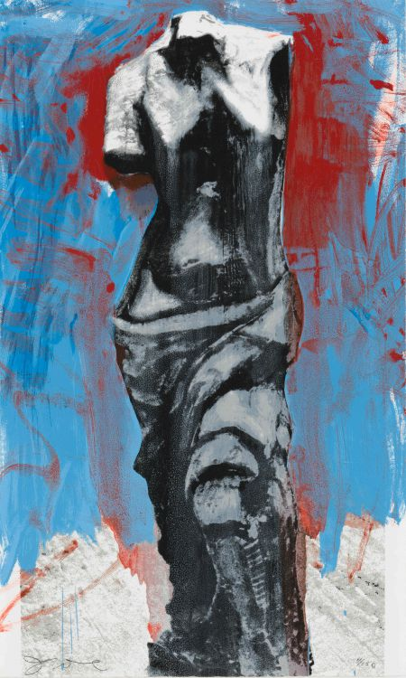 Jim Dine; The Red, White, and Blue Venus for Mondale