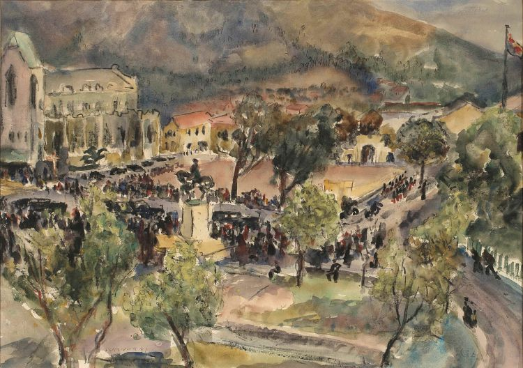 Maud Sumner; Cape Town, Visit of King; Royal Pavilion and Table Mountain