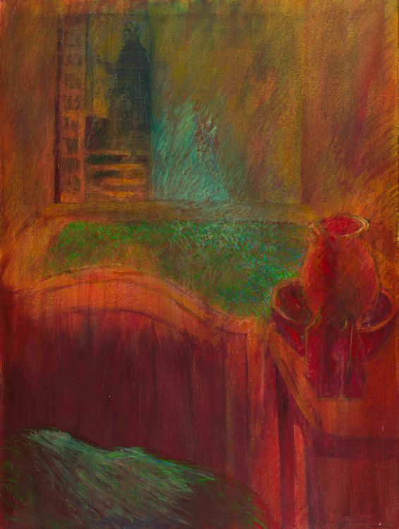 Lionel Abrams; Visitor to Bedroom (Red), 'Bedroom' series