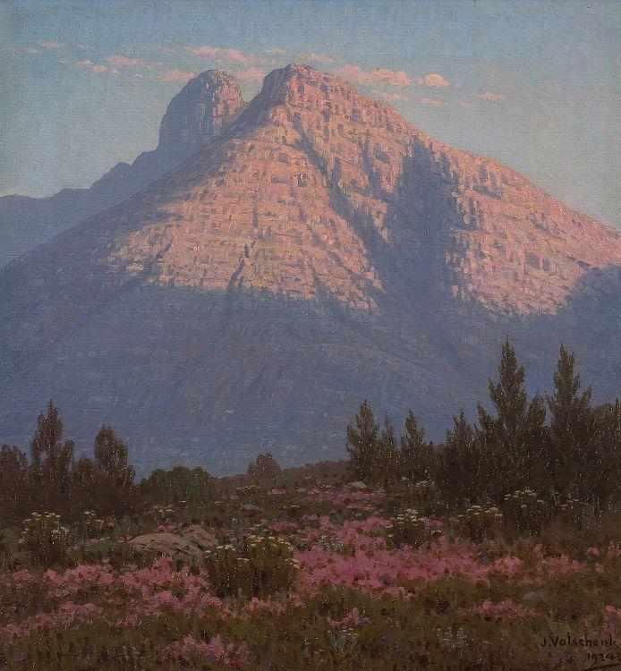 Jan Ernst Abraham Volschenk; At Sunrise: In Gracias Pass (Langebergen)