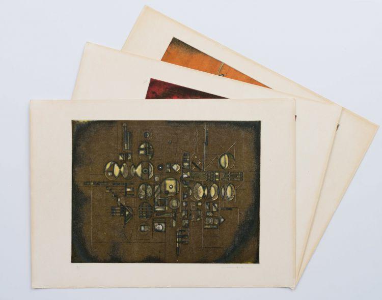 Dirk Meerkotter; Five Etchings, portfolio