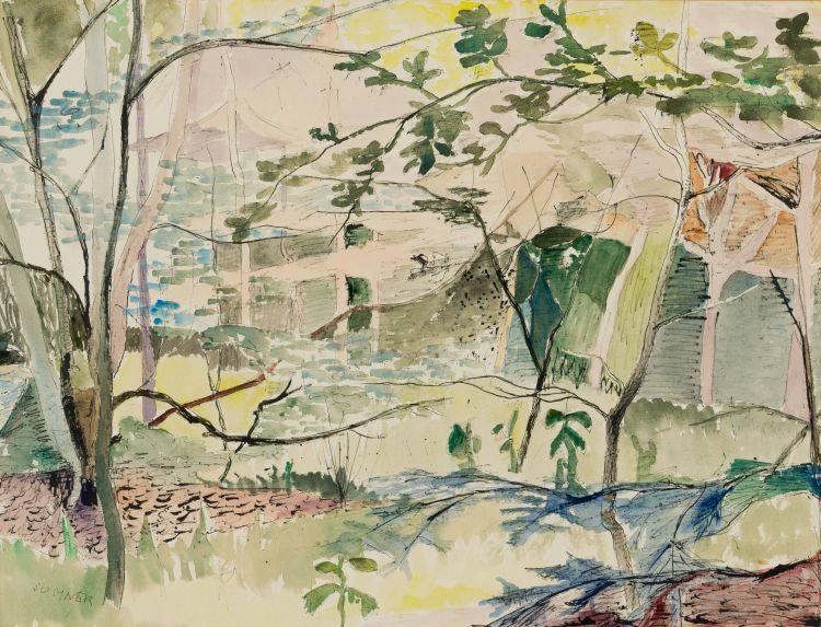 Maud Sumner; A View of a Garden