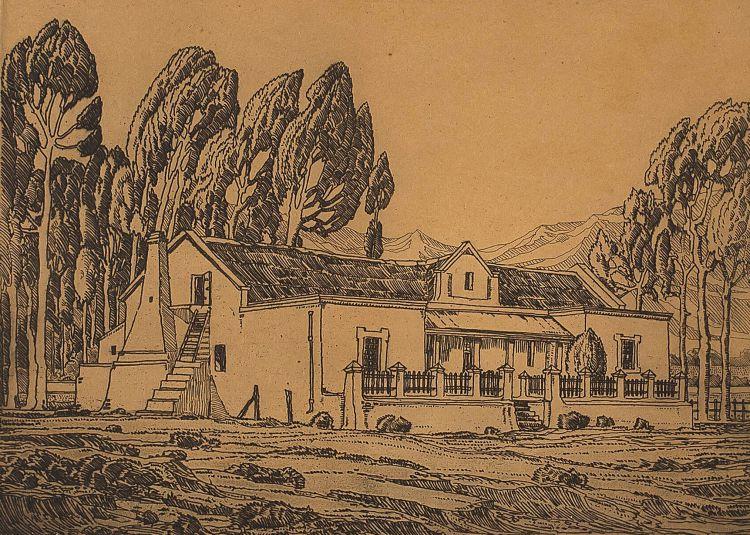 Jacob Hendrik Pierneef; Boerehuis, Tulbagh, K.P.