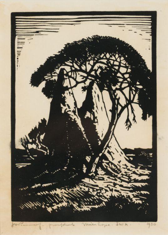 Jacob Hendrik Pierneef; Mier Hope, SWA (sic) (Ant Heaps) (Nilant 113)
