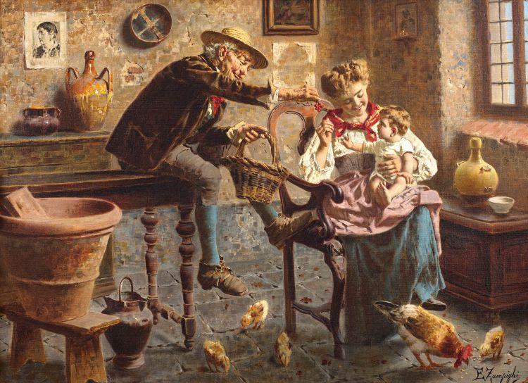 Eugenio Zampighi; Laughter