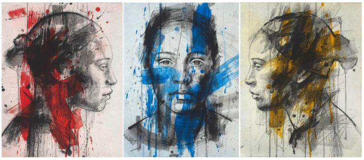 Lionel Smit; Residue Series #1 #2 and #3, three
