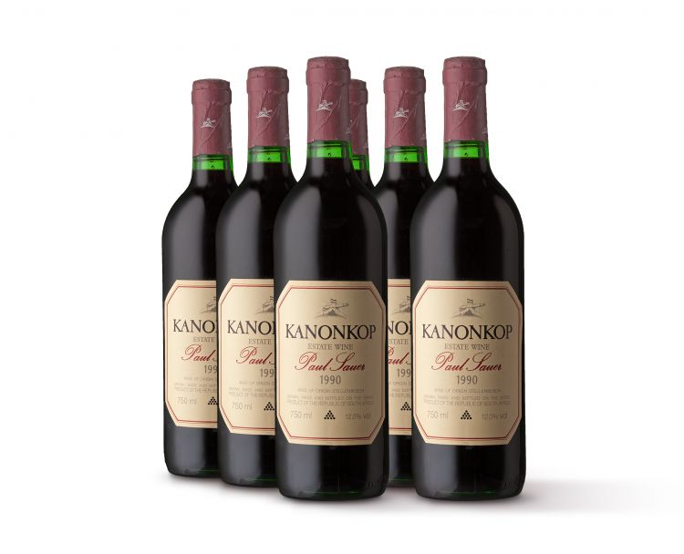 Kanonkop; Paul Sauer; 1990; 6 (1 x 6); 750ml