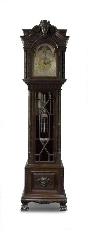 A mahogany tubular chiming longcase clock, Smith & Son Ltd, London, late 19th/early 20th century