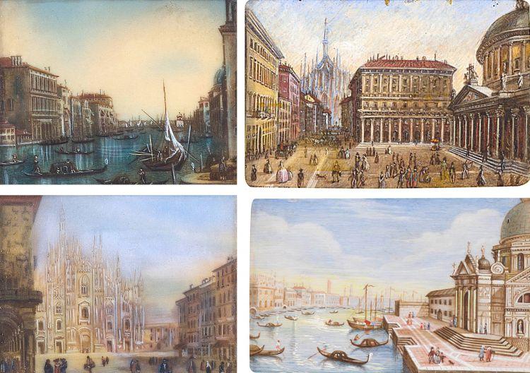 Italian School; Grand Tour Souvenirs, four