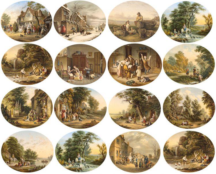 George Baxter; Prints, sixteen