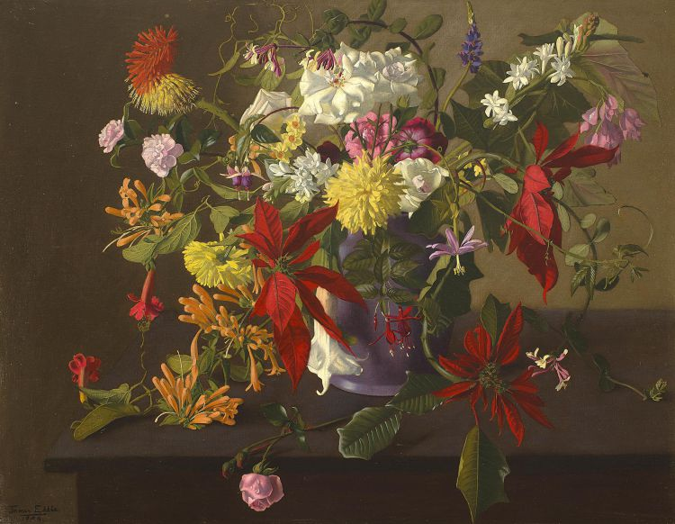 James Eddie; Flowers in a Vase