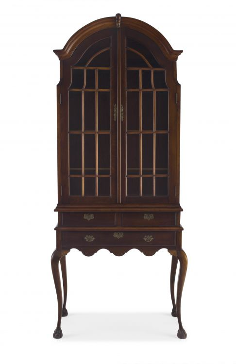 A South African stinkwood display cabinet, 20th century