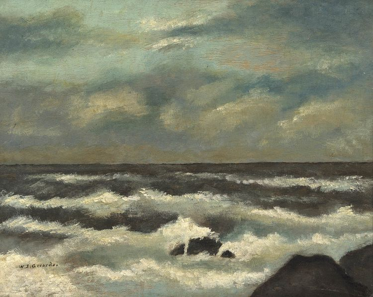 South African School 20th Century; Seascape