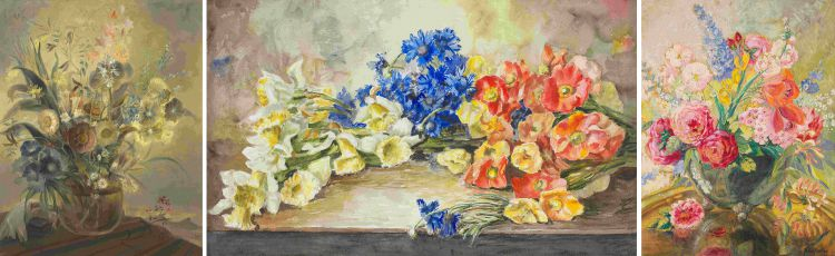 South African School 20th Century; Still Life with Flowers