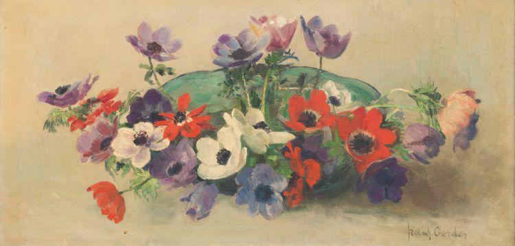Frans Oerder; Bowl of Anemones