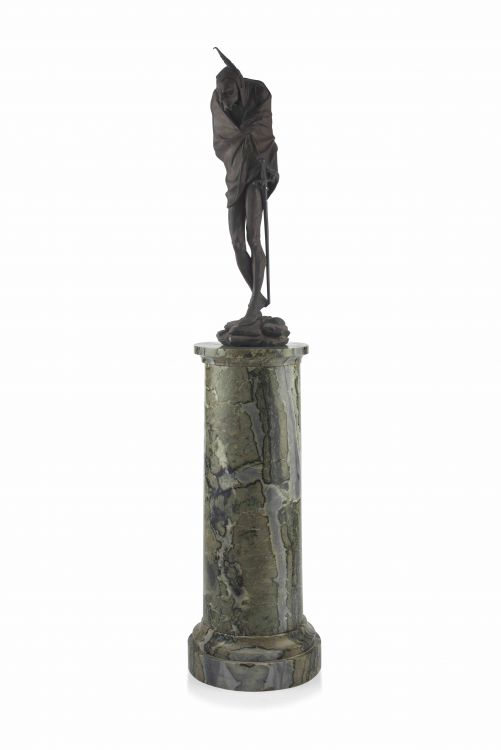 A spelter figure of Mephistopheles, after Jacques Louis Gautier, French, (1831- )