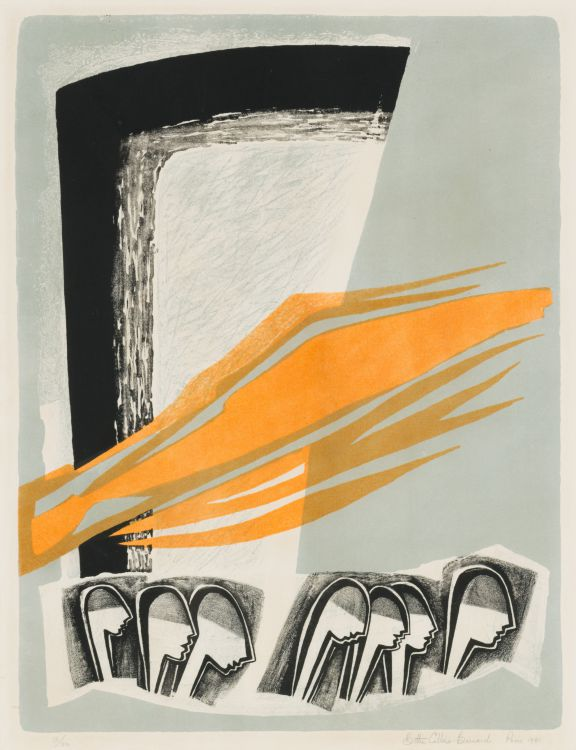 Bettie Cilliers-Barnard; Abstract Composition with Profile Heads