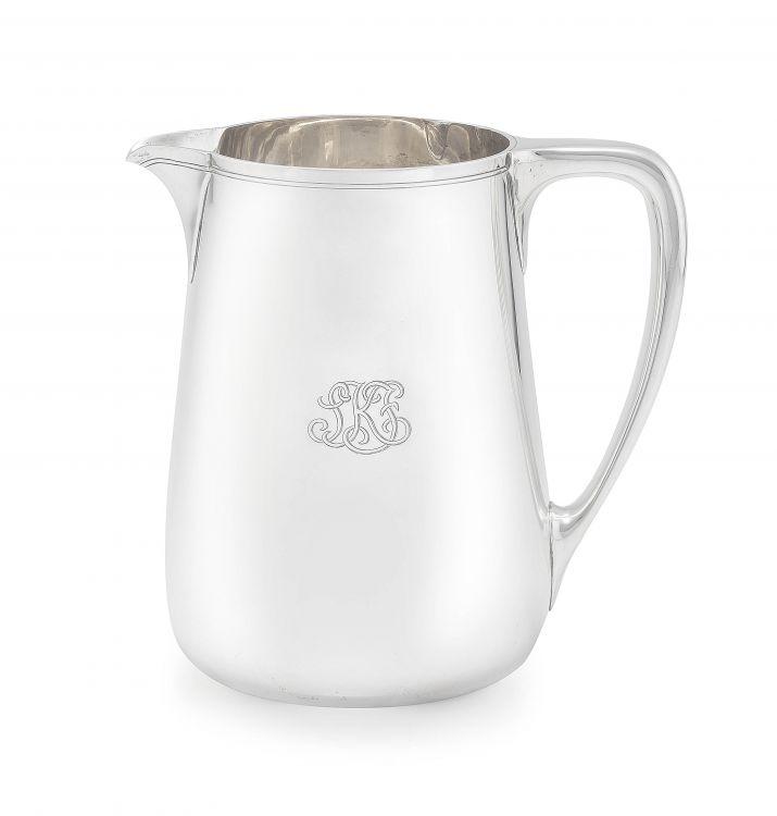 A Tiffany & Co silver 3½ pint jug, 1947-1956, .925 sterling