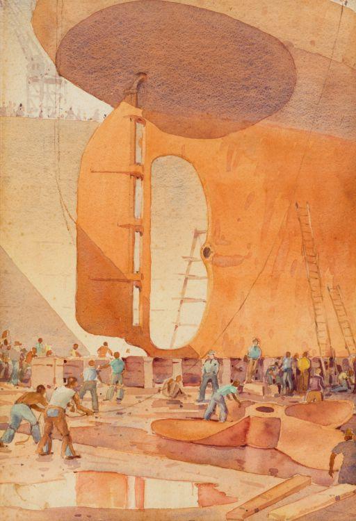 Nils Andersen; Repairing the Ship's Propeller