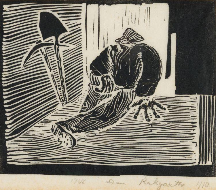 Dan Rakgoathe; Resting Worker