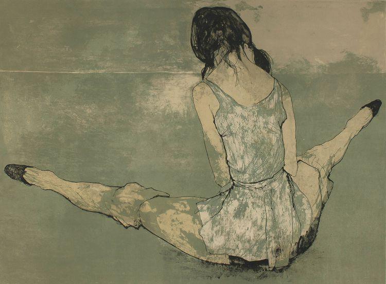 Jean Jansem; Seated Girl